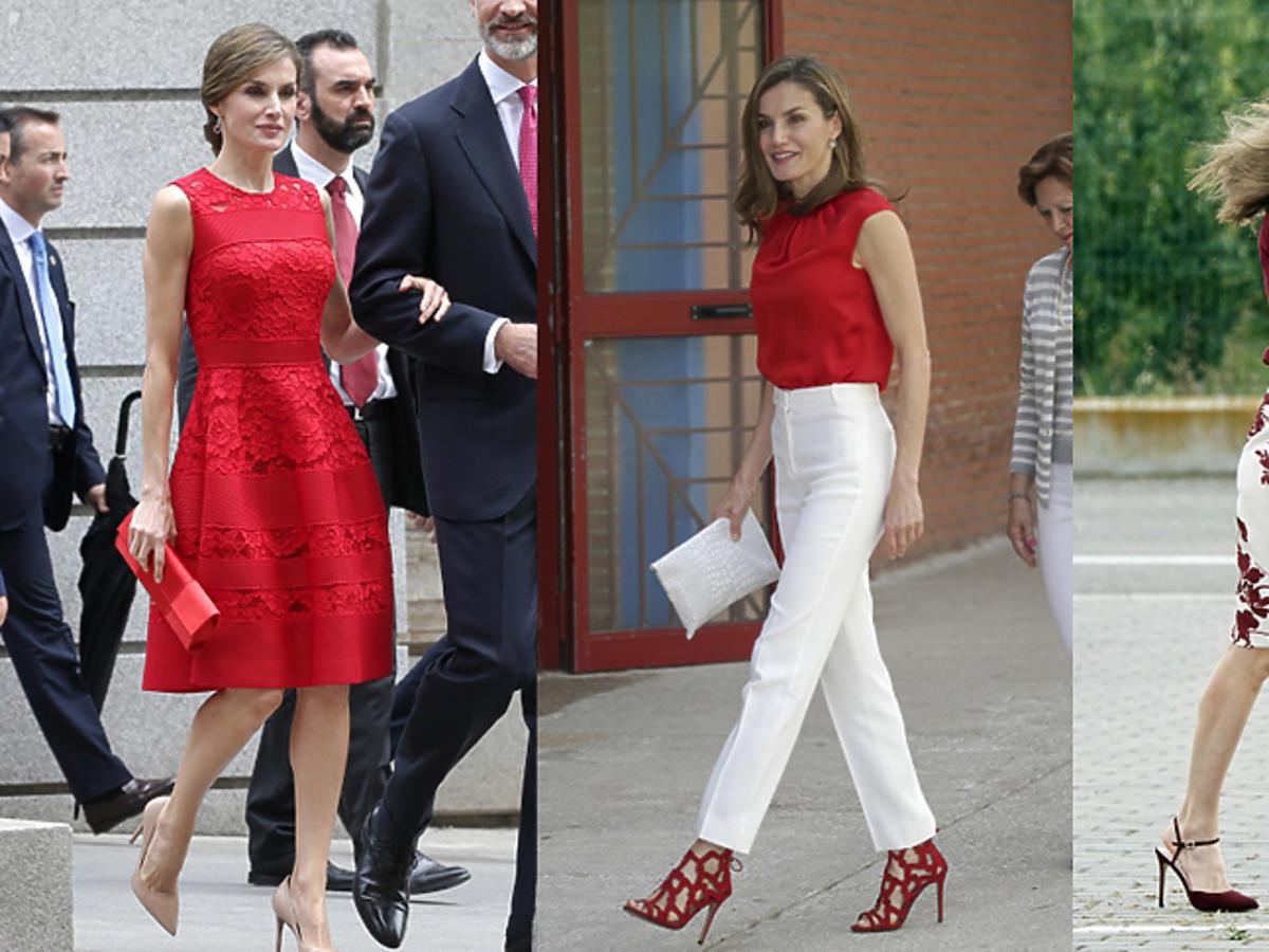 Królowa Letycja w czerwieni