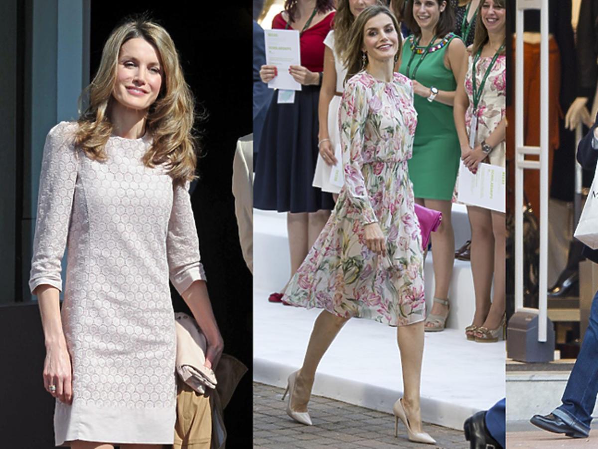 Królowa Letycja w sukienkach z Mango i Zary oraz na zakupach w Mango