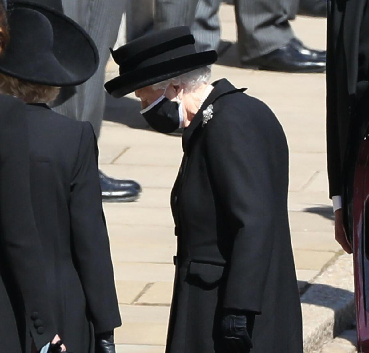 Królowa na pogrebie księcia Filipa