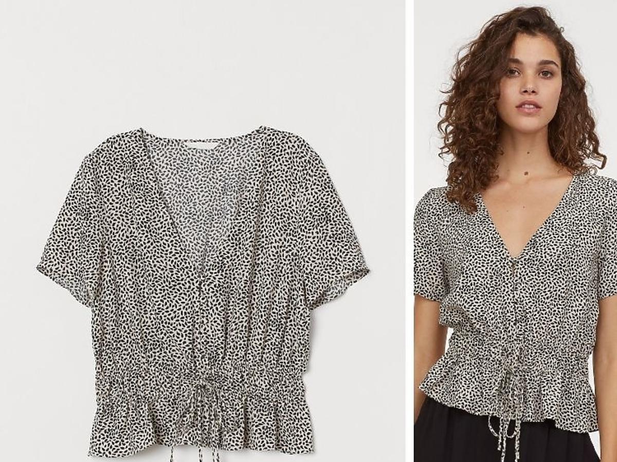 krótki top wiązany z przodu H&M