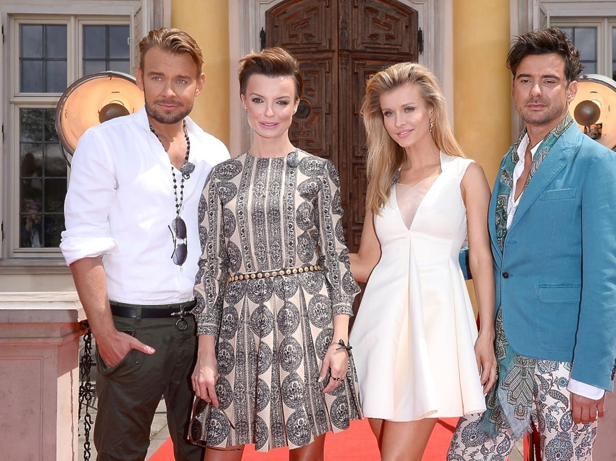 Krupa, Sokołowska, Woliński i Tyszka na castingu Top Model 4 w Warszawie