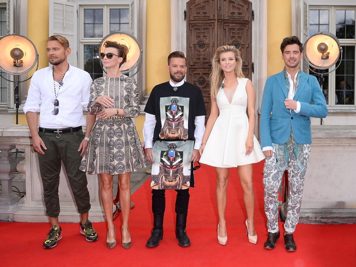 Krupa, Sokołowska, Woliński i Tyszka, Piróg na castingu Top Model 4 w Warszawie