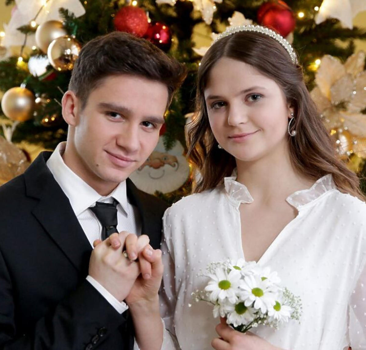 Krystian Domagała i Monika Mielnicka na planie M jak miłość