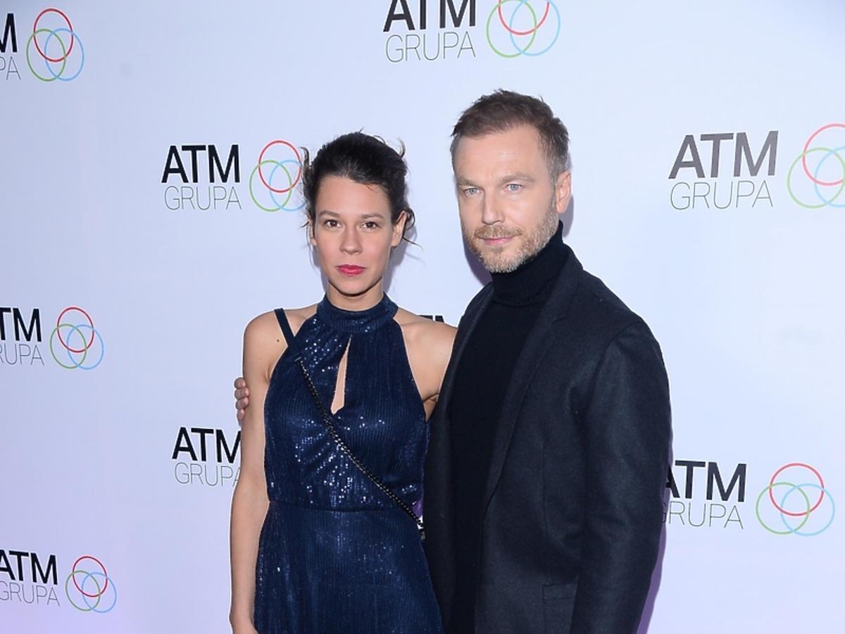 Krystian Wieczorek i Maria Szafirska na spotkaniu świątecznym ATM