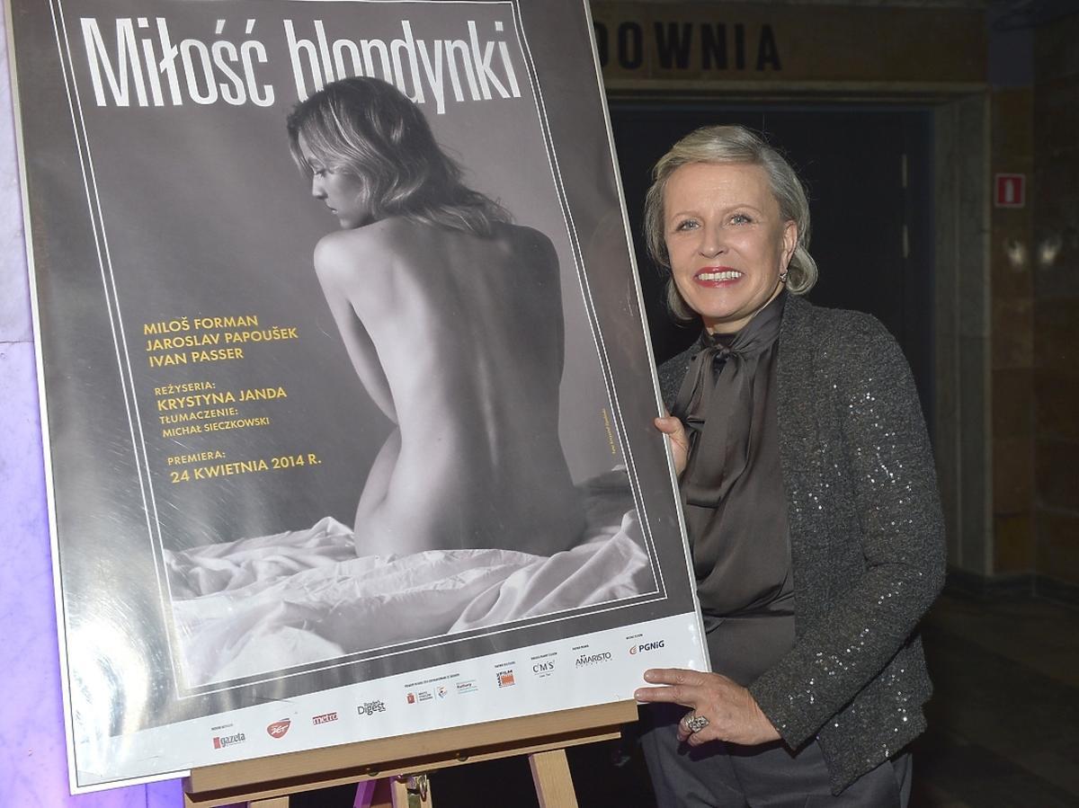 Krystyna Janda na premierze spektaklu