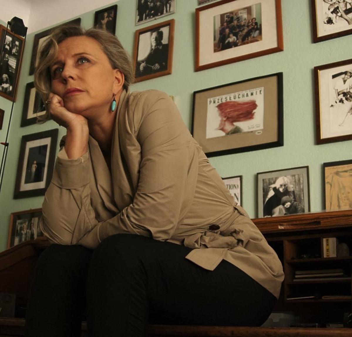 Krystyna Janda w swoim domu