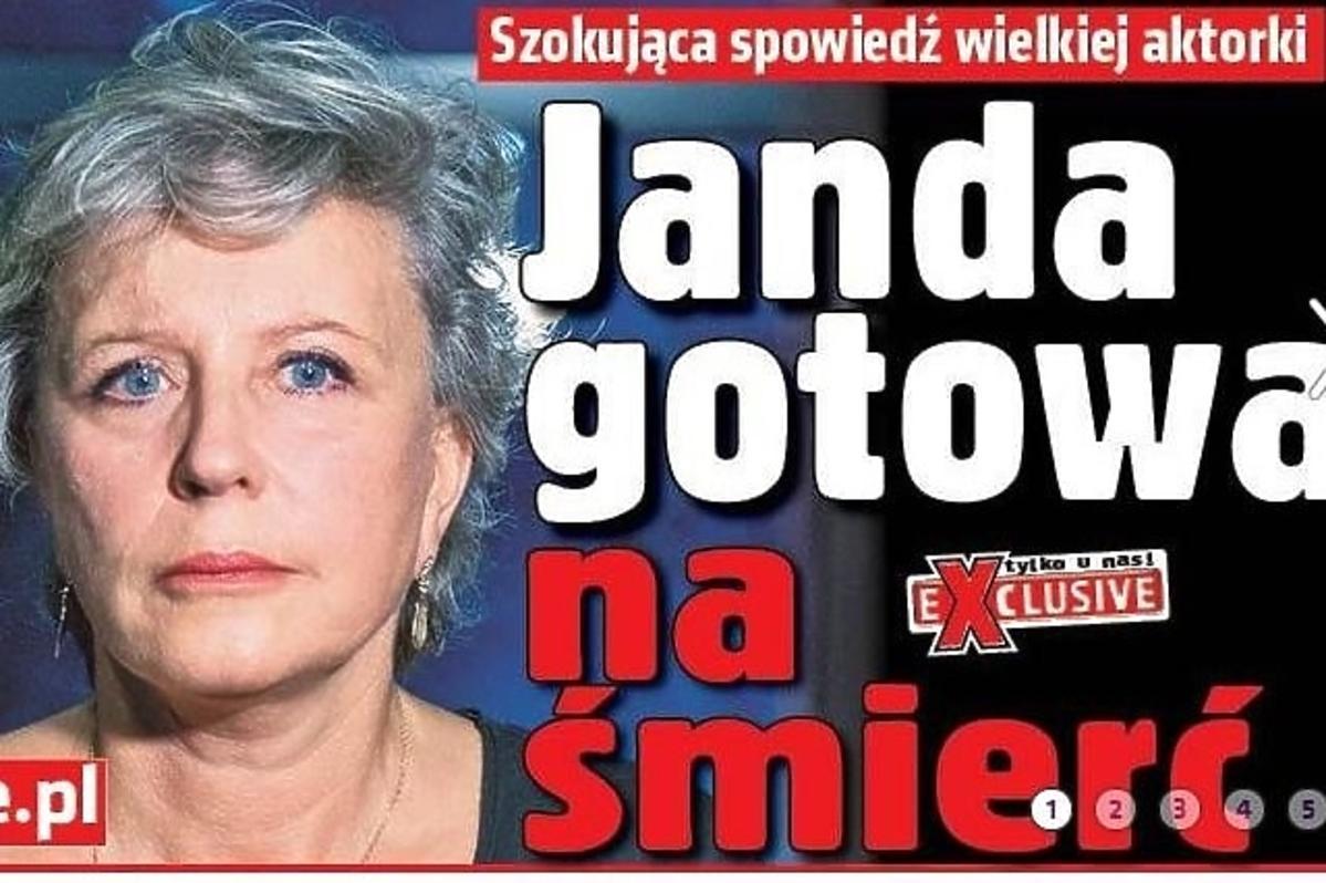 Krystyna Janda wkręciła Super Express