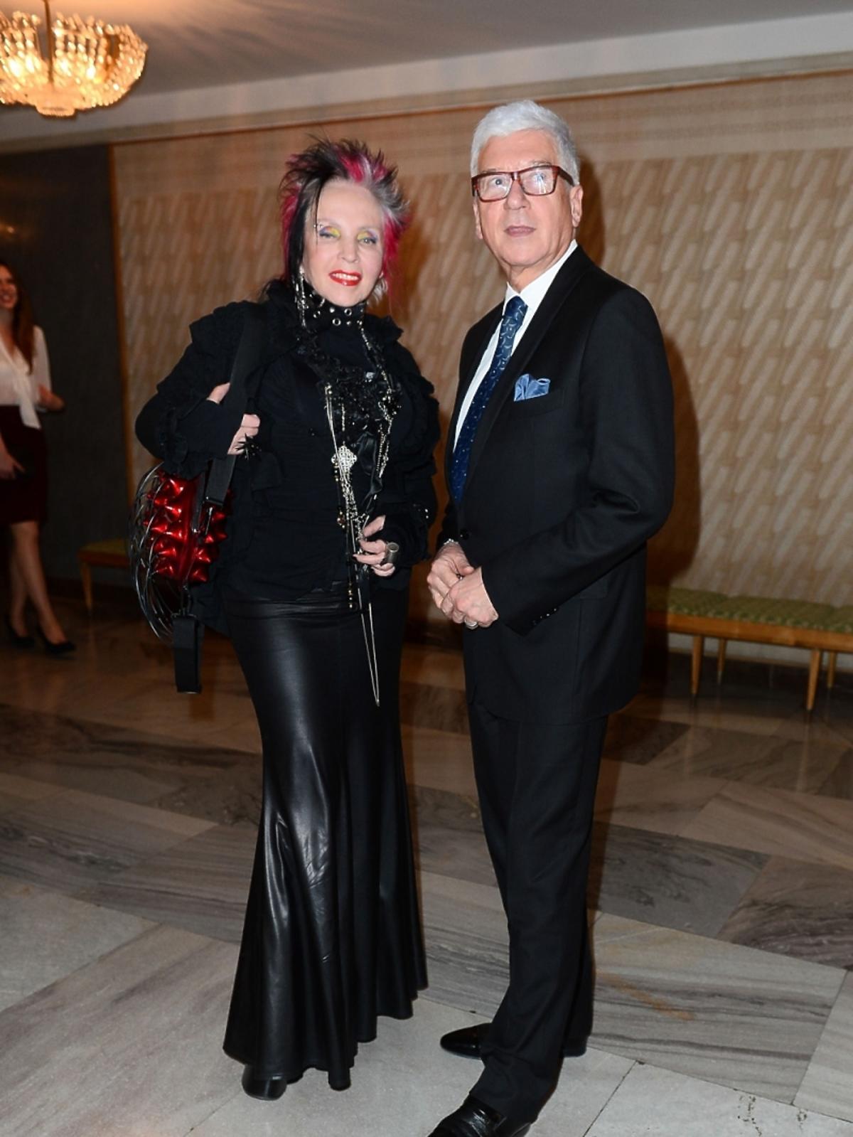 Krystyna Mazurówna i Ryszard Rembiszewski na premierze baletu Casanova w Teatrze Wielkim