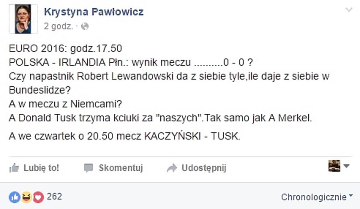 Krystyna Pawłowicz przesadziła?