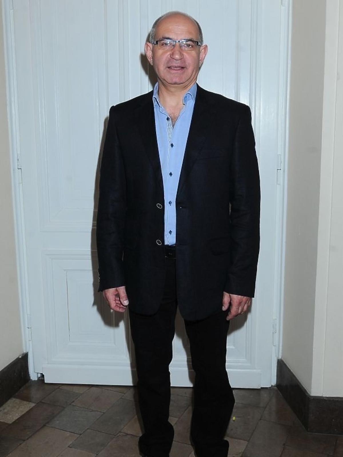 Krzysztof Dracz na premierze spektaklu Zwariowana terapia