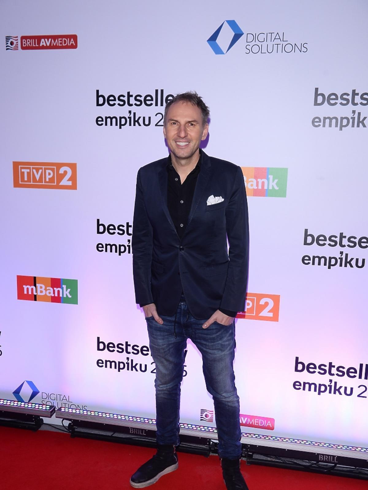 Krzysztof Gojdź na gali Bestsellery Empiku 2015