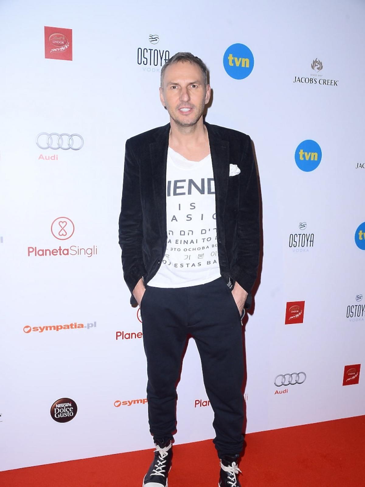 Krzysztof Gojdź na premierze Planety Singli