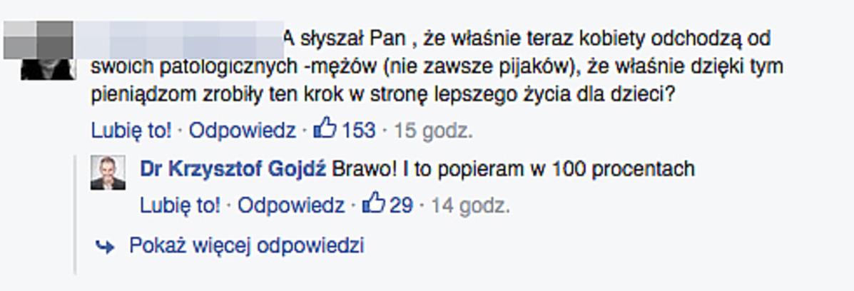 Krzysztof Gojdź ostro o programie 500+