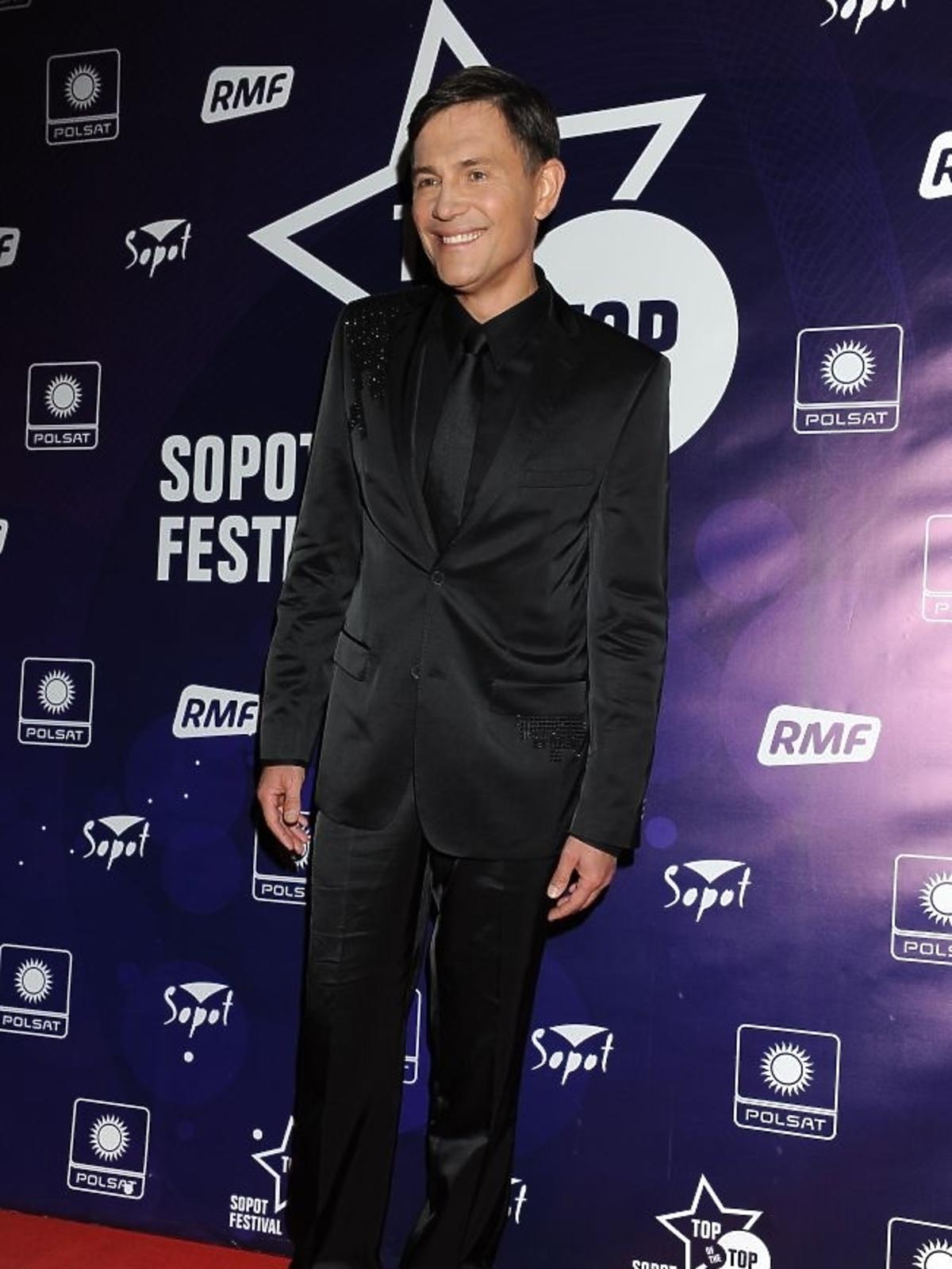 Krzysztof Ibisz podczas pierwszego dnia Sopot Top of the Top Festival 2013