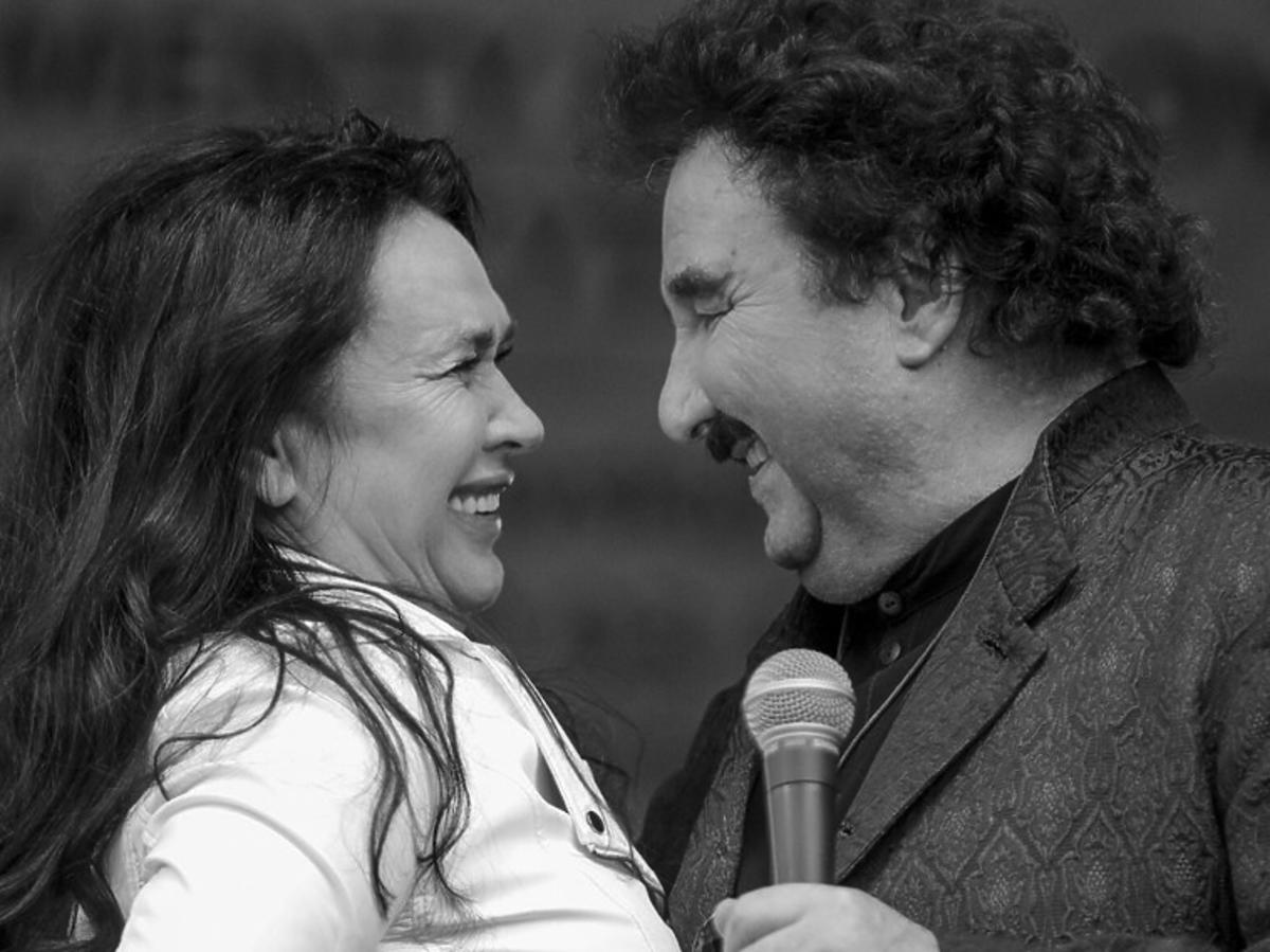 Krzysztof Krawczyk i jego żona Ewa Krawczyk