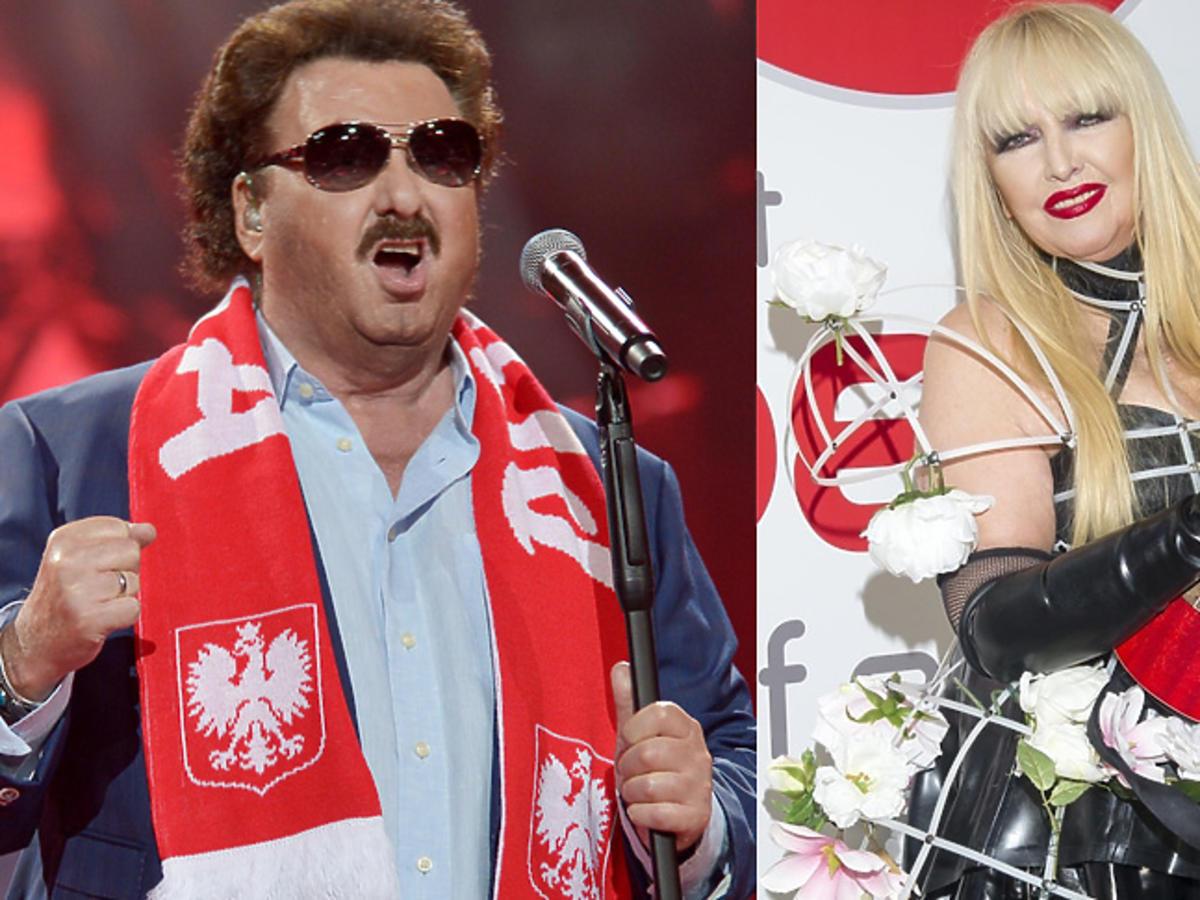 Krzysztof Krawczyk i Maryla Rodowicz na scenie