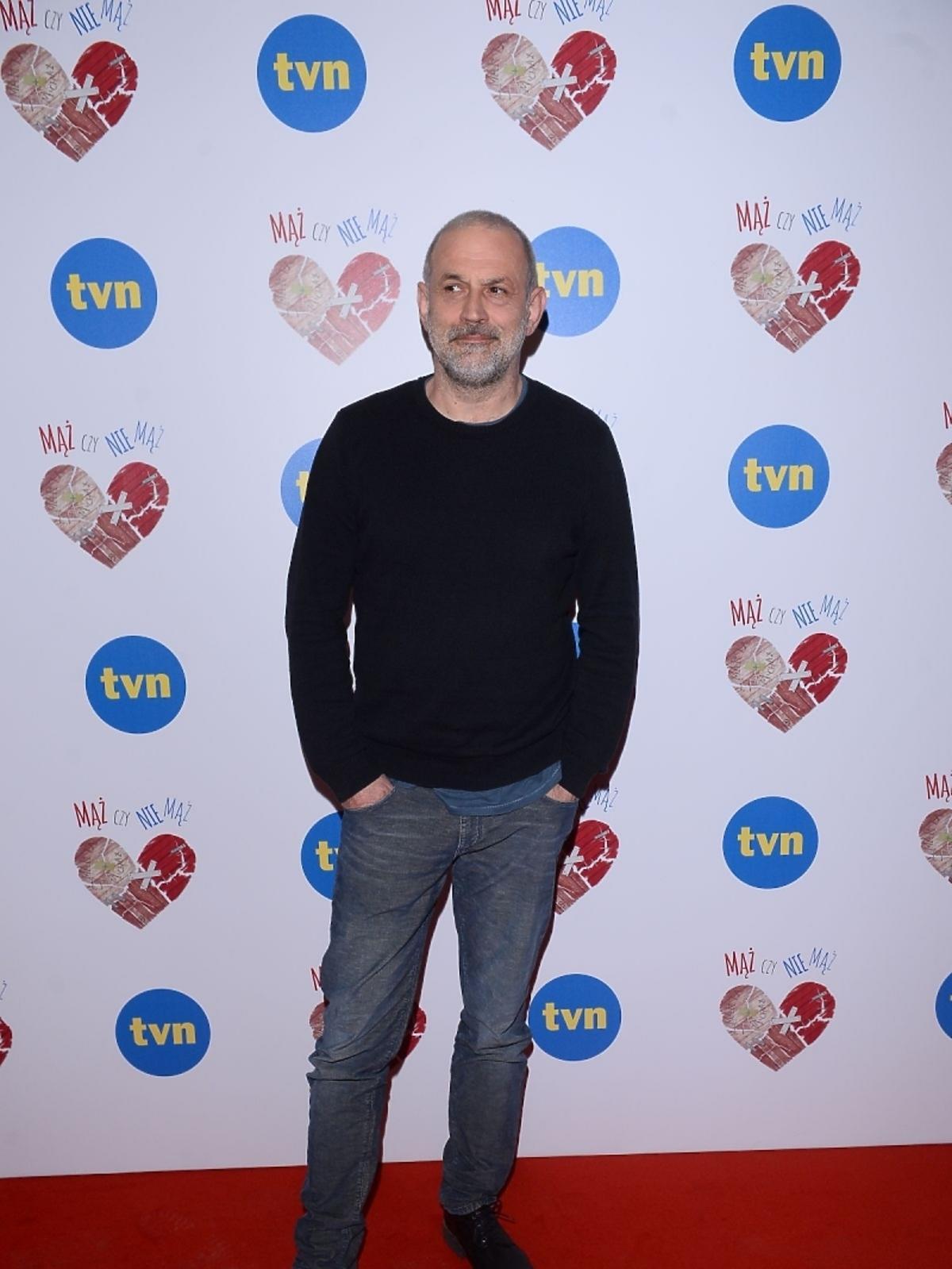 Krzysztof Stelmaszyk na konferencji serialu Mąż czy nie mąż