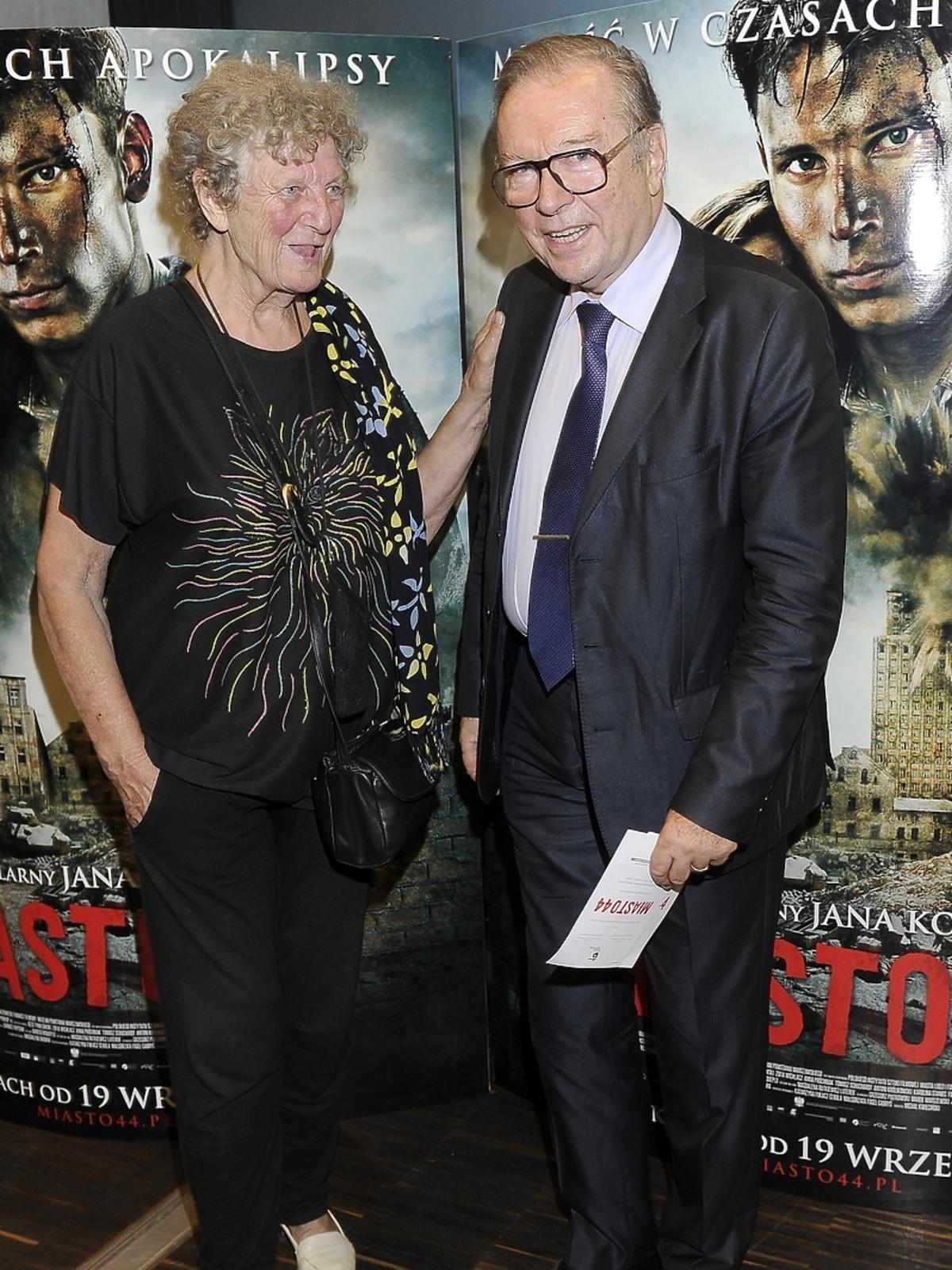 Krzysztof Zanussi na premierze filmu Miasto 44