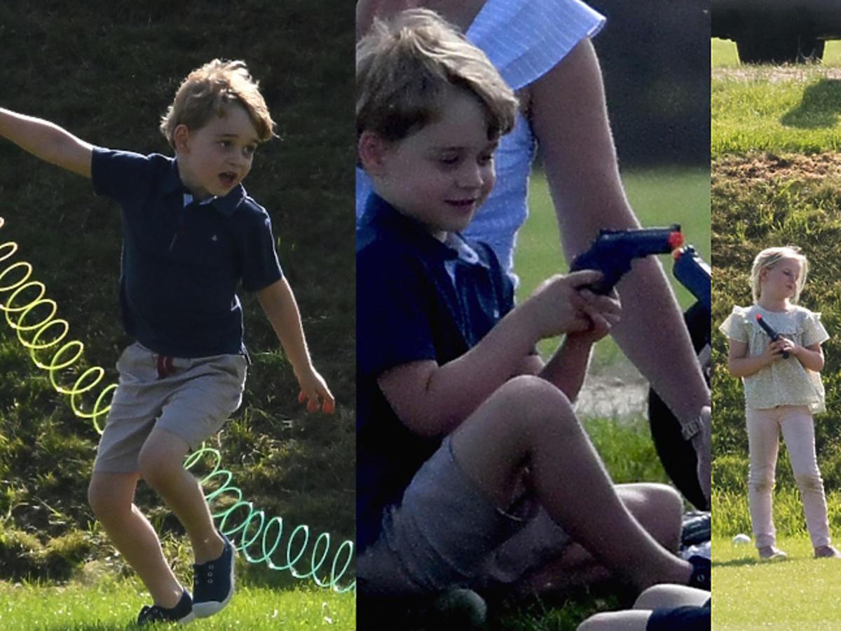 Książę George na meczu polo