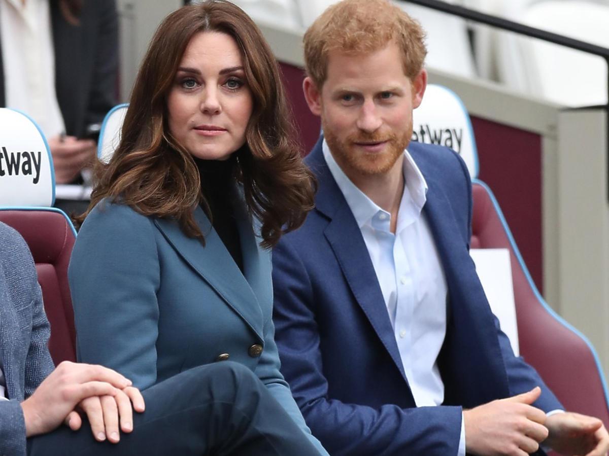 Książę Harry i księżna Kate podczas oficjalnej wizyty
