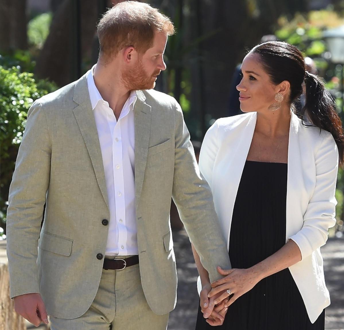 Książę Harry i Meghan Markle podczas oficjalnej podróży