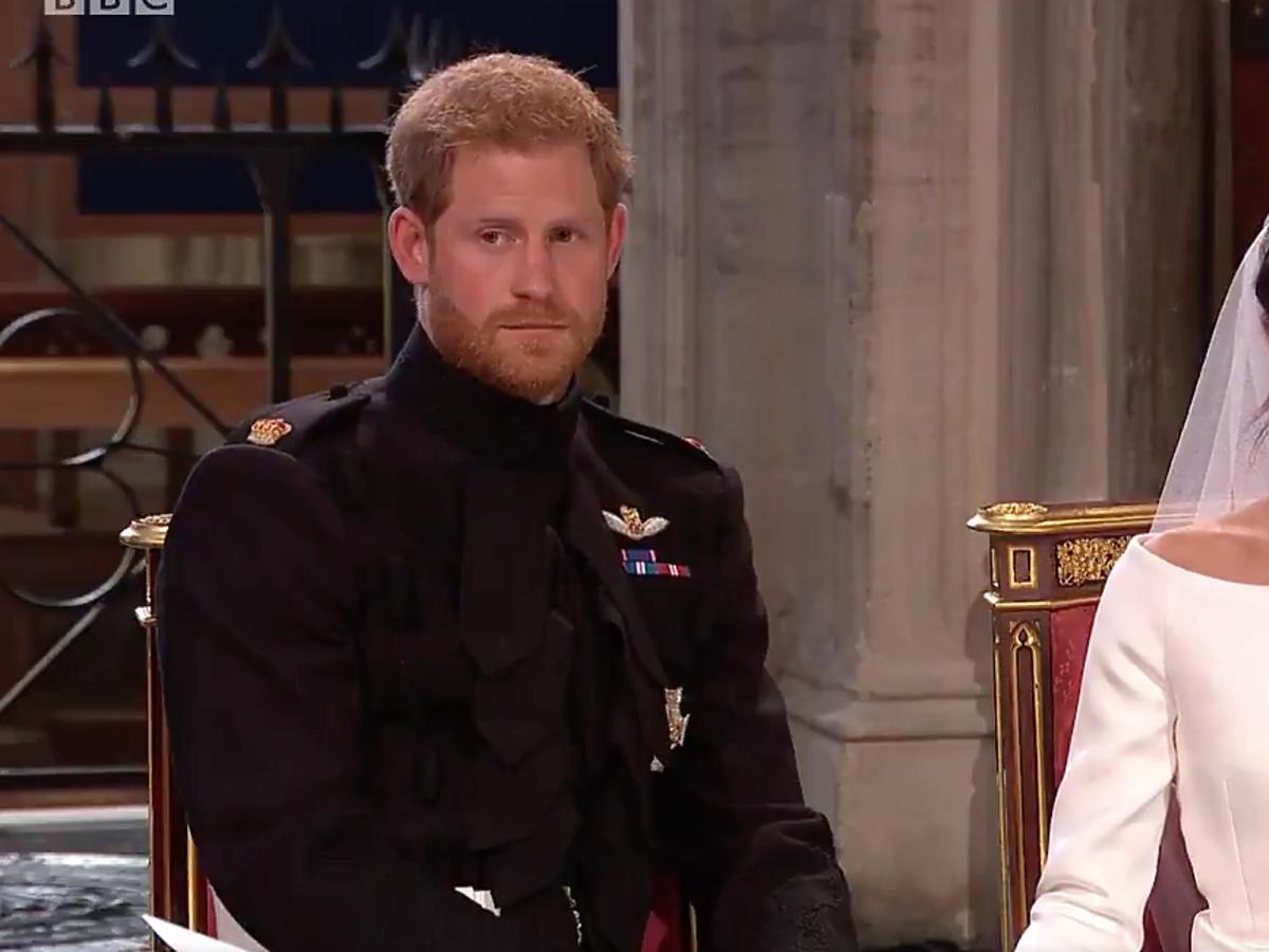 Książę Harry i Meghan Markle podczas ślubu