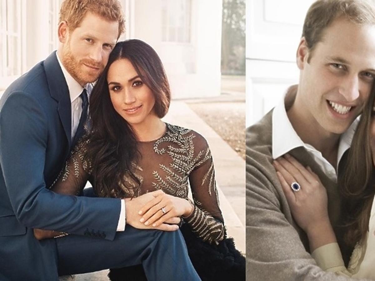 książę Harry, Meghan Markle, książę William, księżna Kate