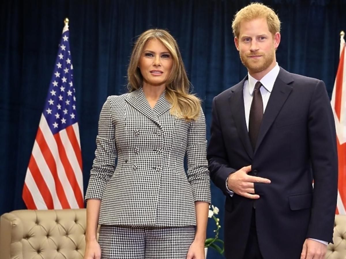 Książę Harry, Melania Trump