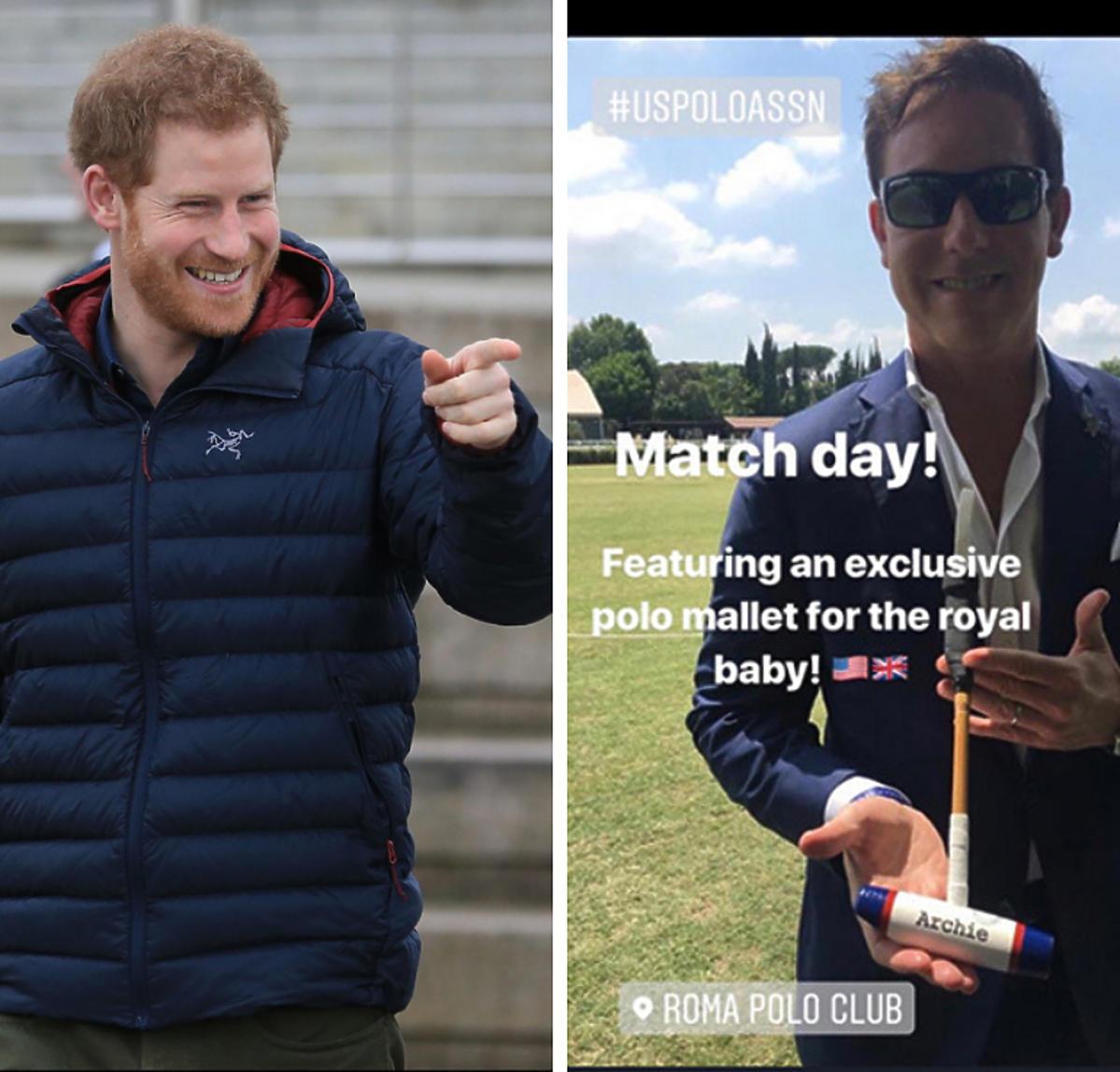 Książę Harry prezent dla syna