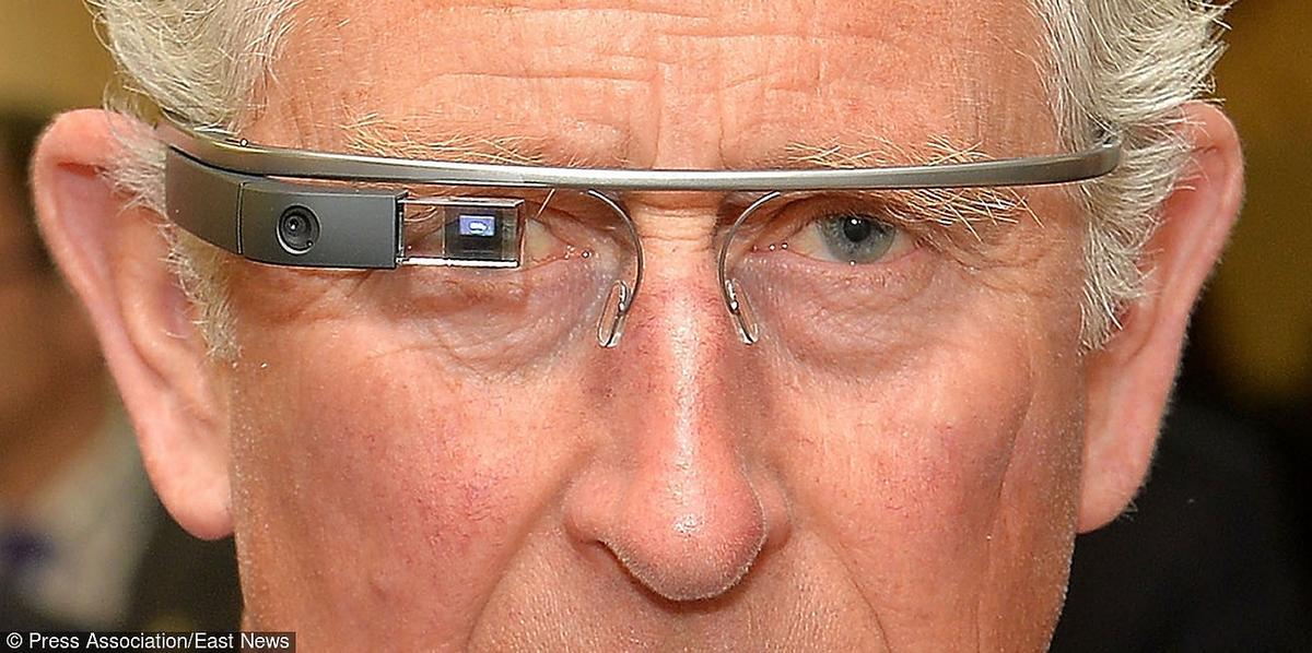 Książę Karol w Google Glass