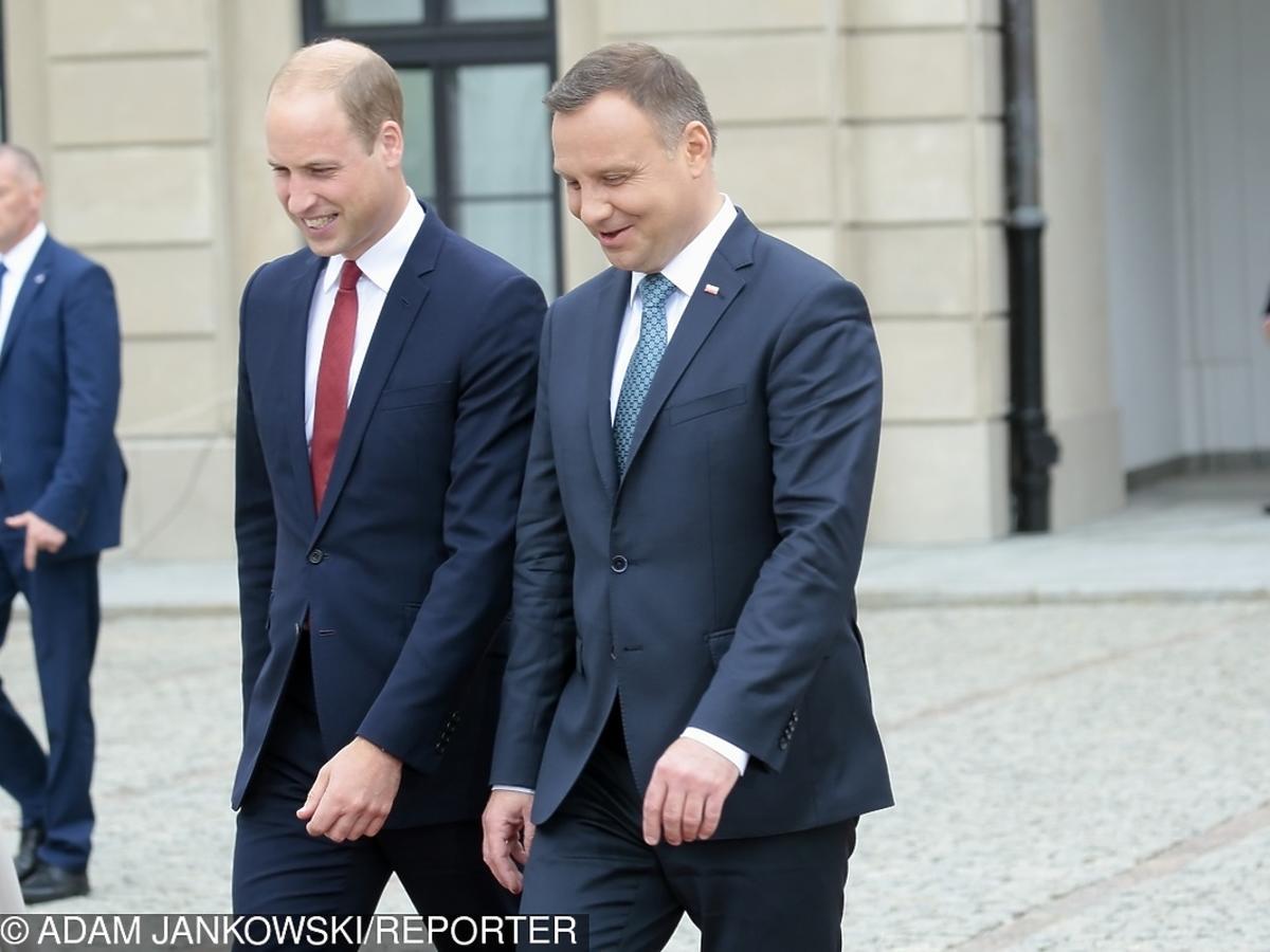 książę William, Andrzej Duda