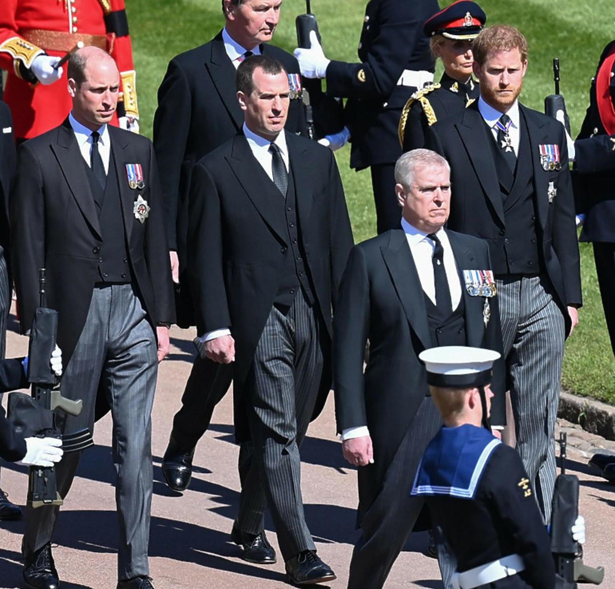 Książę William i Harry na pogrzebie dziadka - księcia Filipa