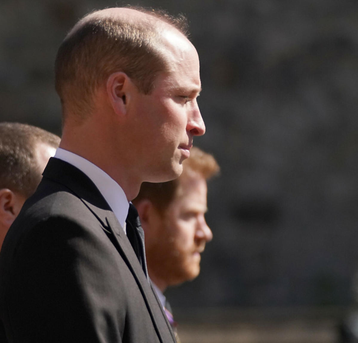 Książę William i książę Harry na pogrzebie dziadka - księcia Filipa