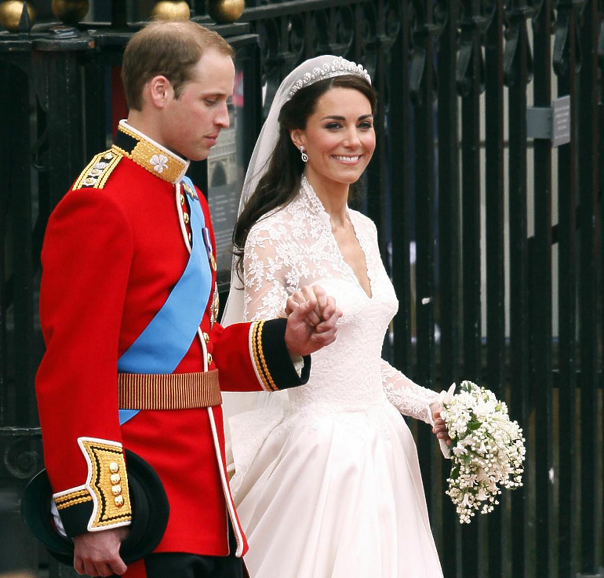 Książę William i księżna Kate tuż po ślubie