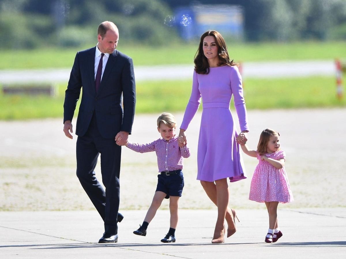 Książę William, książę George, księżna Kate, księżna Charlotte
