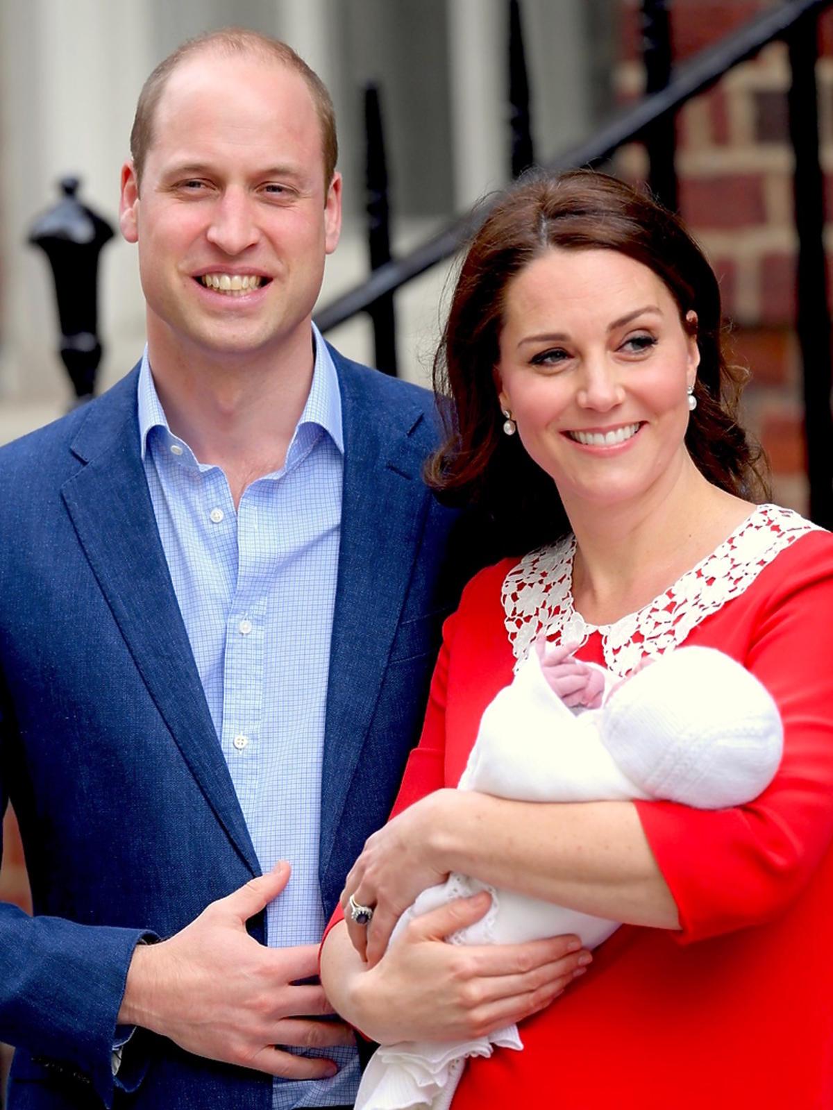 Książę William, księżna Kate i książę Ludwik