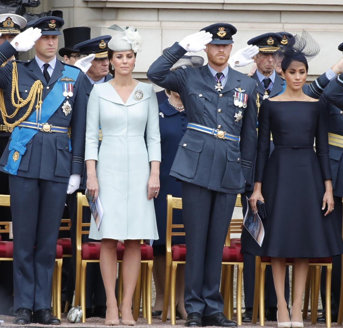 Książę William, księżna Kate, Książę Harry, Meghan Markle