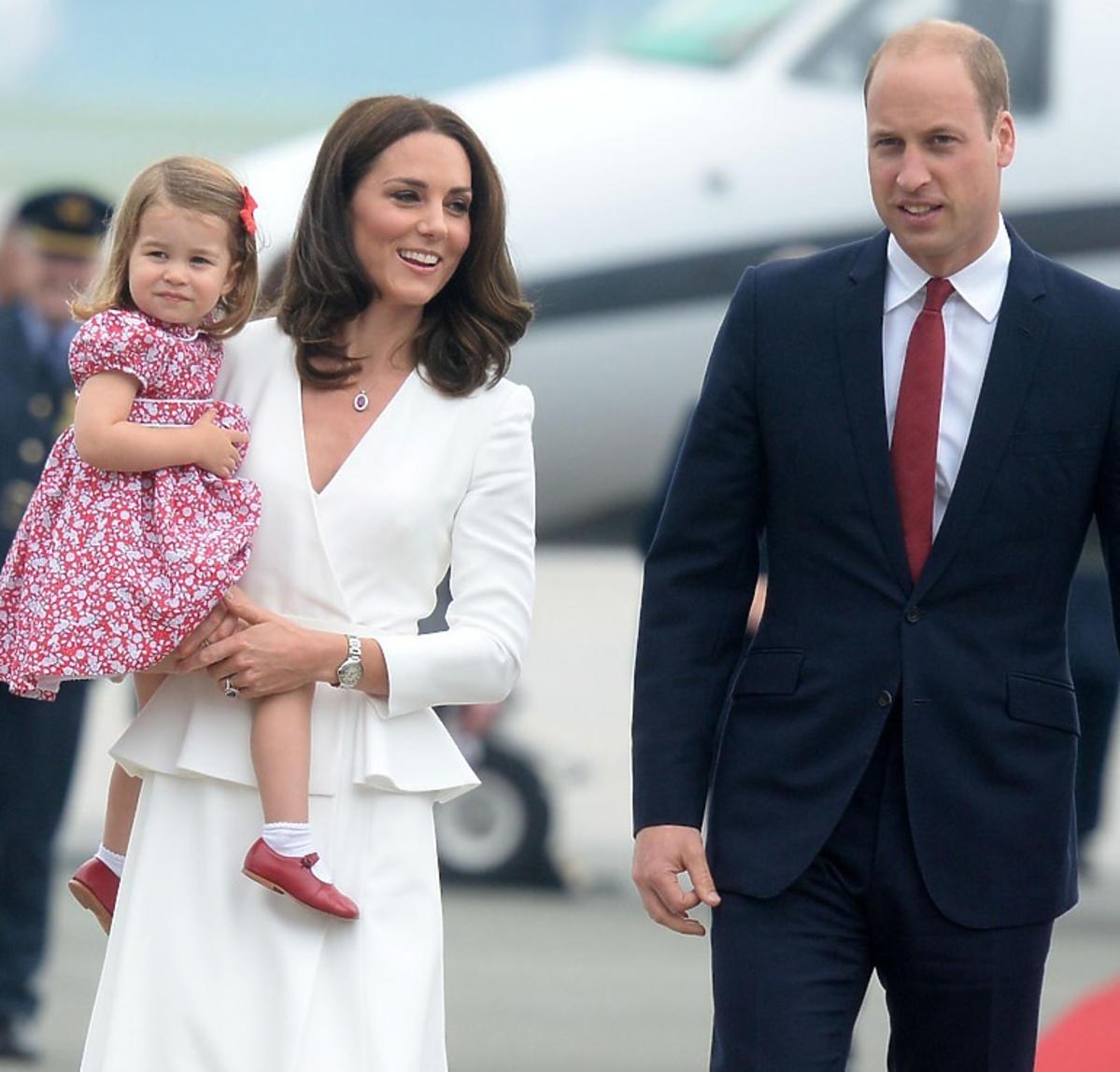 Książę William, księżna Kate, księżniczka Charlotte w Polsce