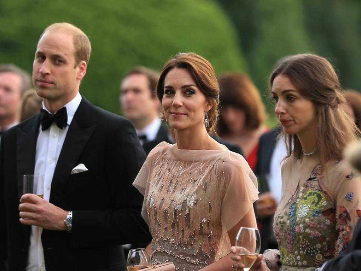 książę William, księżna Kate, Rose Hanbury razem na imprezie