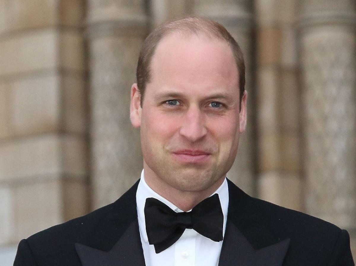 Książę William smutny