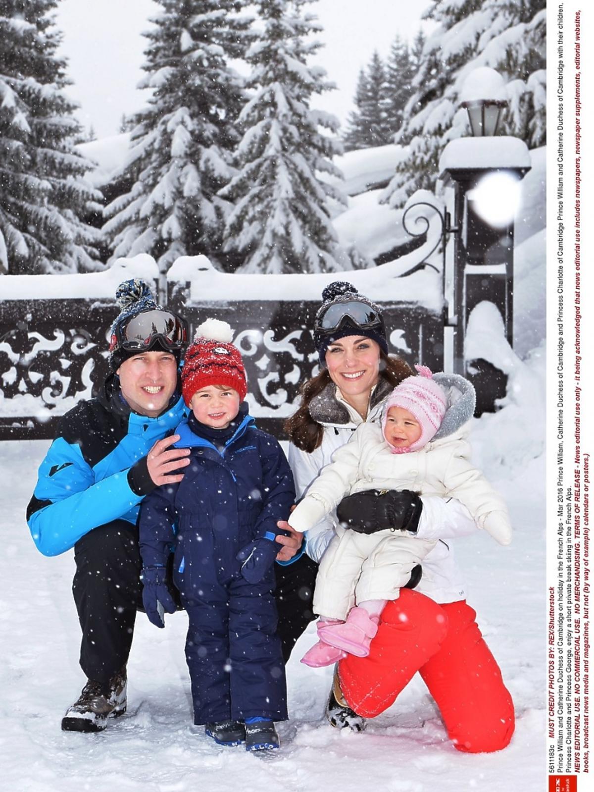 Książę William w goglach narciarskich