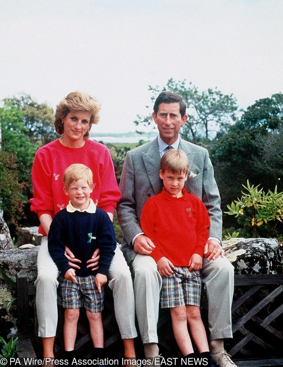 księżna Diana, książę Karol, Harry, Wiliam