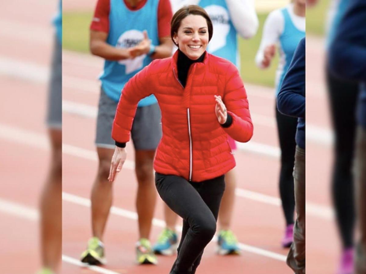 księżna Kate biega