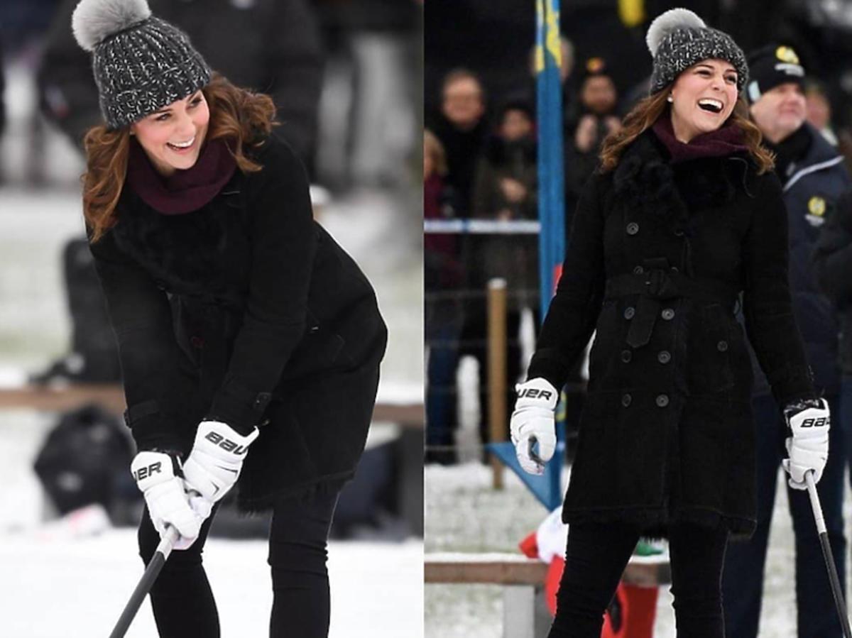 księżna Kate gra w hokeja