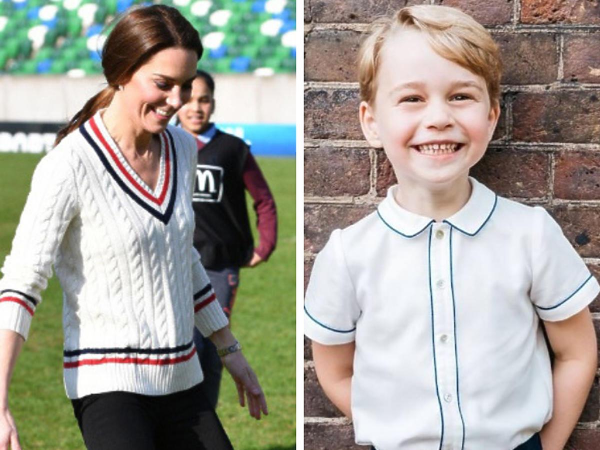 Księżna Kate i George