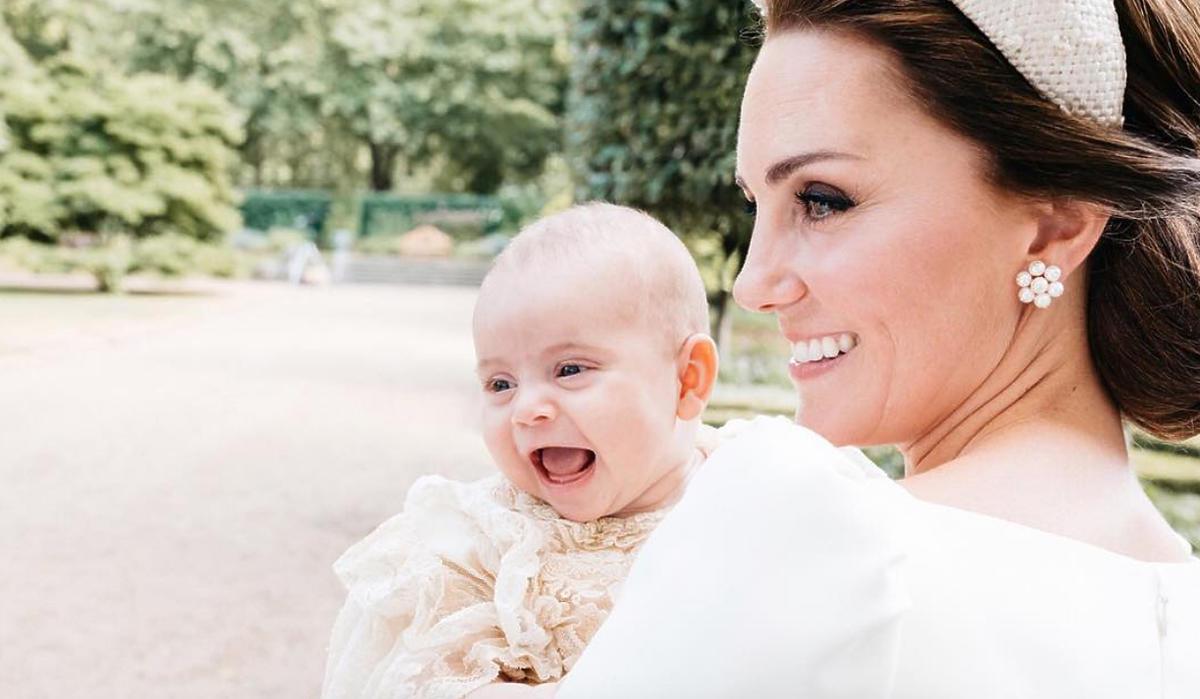 Księżna Kate i książę Louis podczas chrzcin