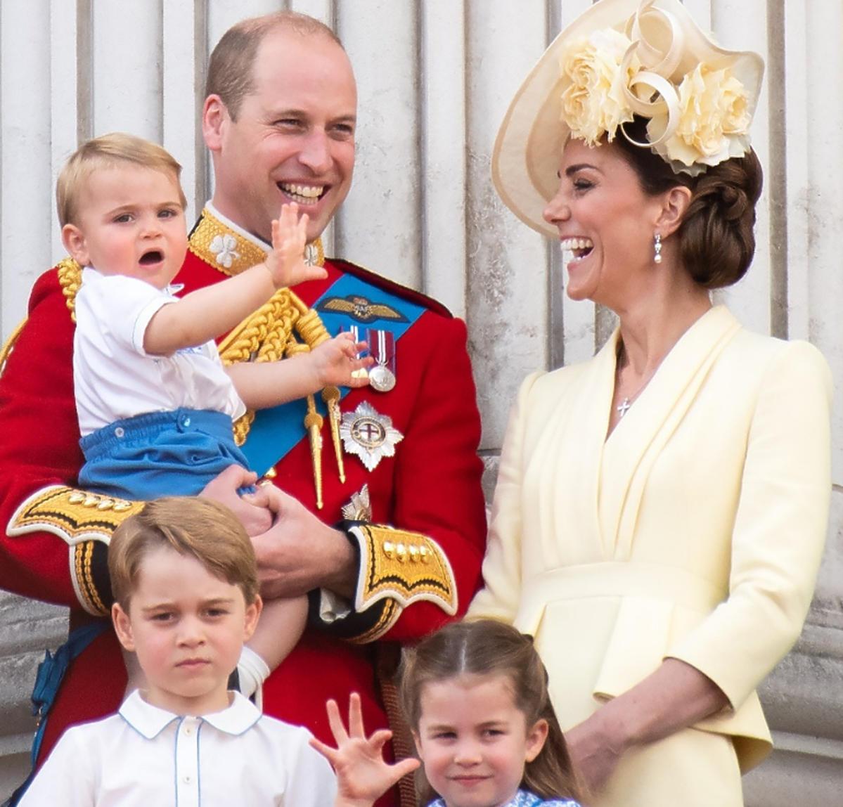 Księżna Kate i Książę William książę Louis