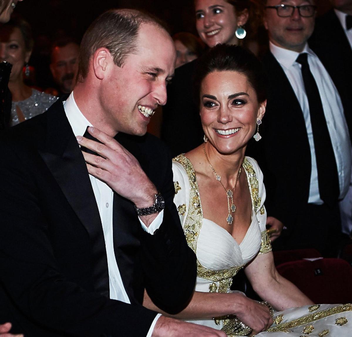 Księżna Kate i książę William na BAFTA 2020
