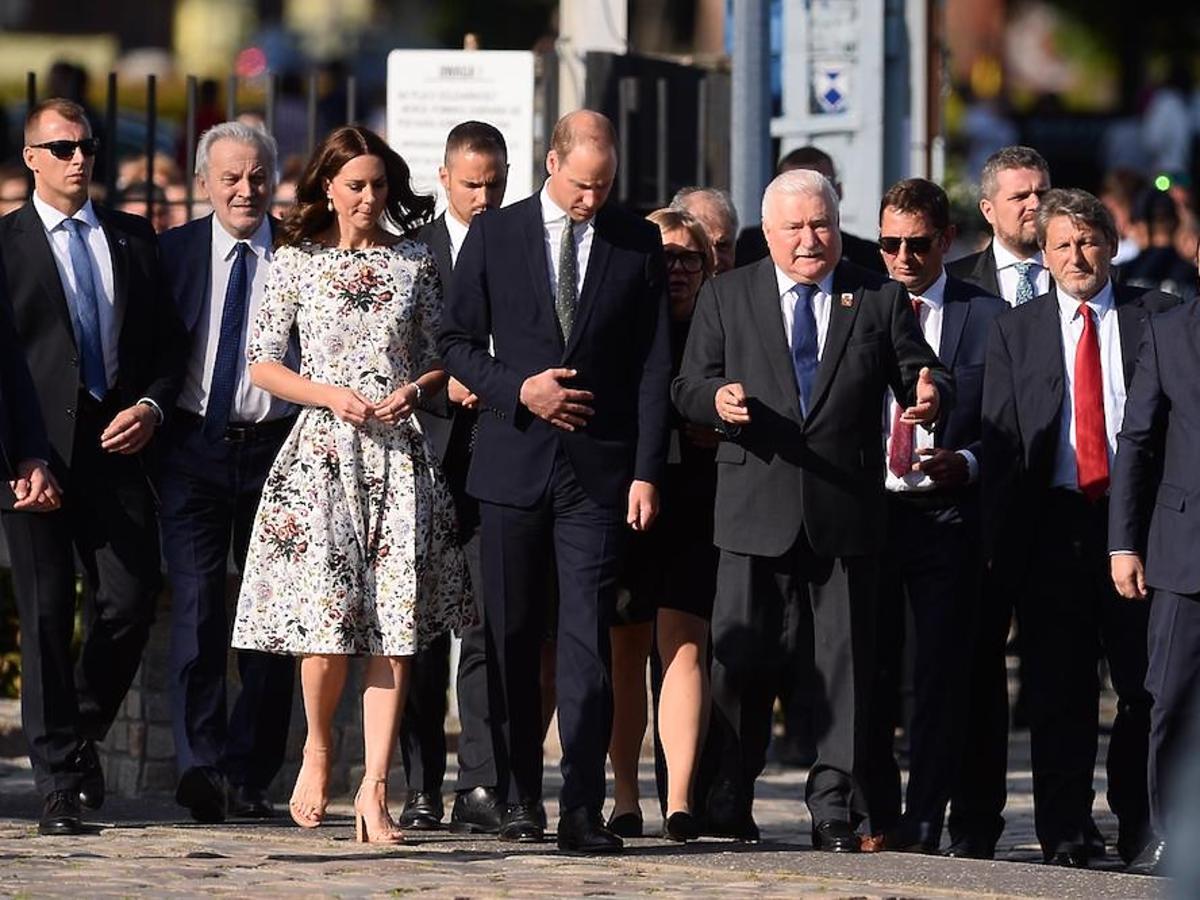 Księżna Kate i książę William na spotkaniu z Lechem Wałęsą