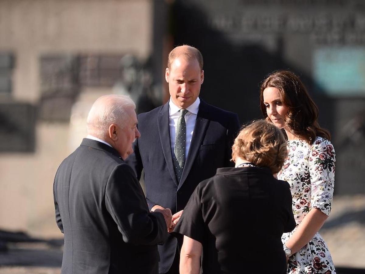 Księżna Kate i książę William na spotkaniu z Lechem Wałęsą w Stoczni